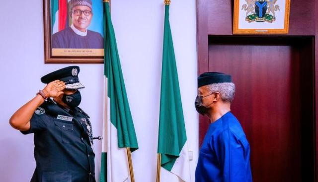Osinbajo tasks Ag. I-G to restore confidence, dignity of Police